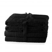 AmeliaHome - Ręcznik kąpielowy Bawełniany Gładki Czarny AMARI