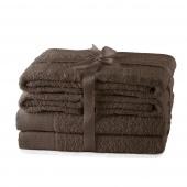 AmeliaHome - Ręcznik kąpielowy Bawełniany Gładki Brązowy AMARI