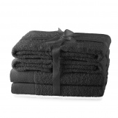 AmeliaHome - Ręcznik kąpielowy Bawełniany Gładki Grafitowy AMARI