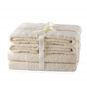AmeliaHome - Ręcznik kąpielowy Bawełniany Gładki Ecru AMARI