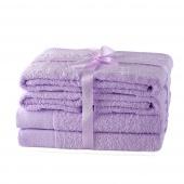AmeliaHome - Ręcznik kąpielowy Bawełniany Gładki Liliowy AMARI