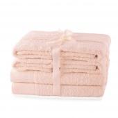 AmeliaHome - Ręcznik kąpielowy Bawełniany Gładki Pudrowy Róż AMARI