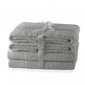 AmeliaHome - Ręcznik kąpielowy Bawełniany Gładki Szary AMARI