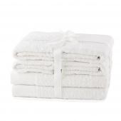 AmeliaHome - Ręcznik kąpielowy Bawełniany Gładki Biały AMARI