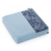 AmeliaHome - Ręcznik Kąpielowy Bawełniany z ozdobną bordiurą Jasny Błękit CREA