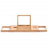 Półka na wannę Rozkładana Bambusowa Jasny Brąz MELEDYN