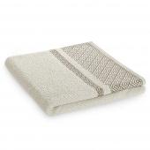 Ręcznik kąpielowy Bawełniany z bordiurą Beżowy DESSIN