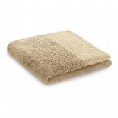 Ręcznik kąpielowy Bawełniany ze złotym zdobieniem Beżowy MIDAL