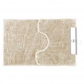 Komplet antypoślizgowych dywaników łazienkowych 2 szt. miękkich Beżowych BATI