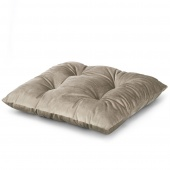 Welwetowa poduszka na krzesło Beżowa 40x40 cm Wiązana TENDER