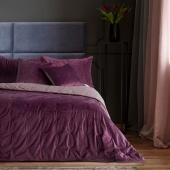 DecoKing – Narzuta na łóżko Premium Pikowana Dwustronna Berry Welwet DAISY
