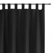 Zasłony dekoracyjne na szelkach Oxford Tie Back 140x250 cm Czarne ELEGANTE