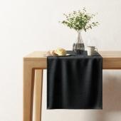 Bieżnik dekoracyjny z eleganckim tłoczonym wzorem 40x140 cm Czarny HOPP