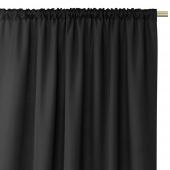 Zasłony dekoracyjne z eleganckim marszczeniem do sypialni na taśmie Oxford 140x250 cm Czarne ELEGANTE