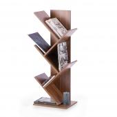 Regał na książki do salonu Designerski Orzech Brązowy VANGUARD