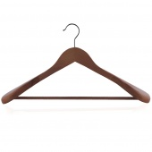 Wieszak na ubrania płaszcze do szafy Drewniany CLAMP Brązowy