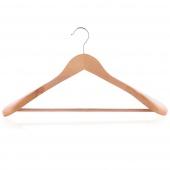 Wieszak na ubrania płaszcze do szafy Drewniany CLAMP Naturalne Drewno