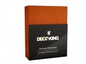 DecoKing – Prześcieradło Frota + Gumka - Brązowy