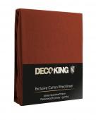 DecoKing – Prześcieradło Jersey + Gumka - Brązowy