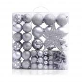 DecoKing - Zestaw Bombek Srebrny STAR