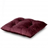 Welwetowa poduszka na krzesło Burgundowy 40x40 cm Wiązana TENDER