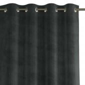 Zasłona na przelotkach zaciemniająca sztruksowa Grafitowa 140x250 HOBBO