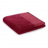 Ręcznik kąpielowy Bawełniany ze złotym zdobieniem Bordowy MIDAL