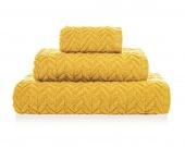 Gruby ręcznik łazienkowy Premium Chłonny Wzór warkocza Musztardowy TRESSER