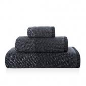 Sorema – Ręcznik Kąpielowy Bawełniany z Ozdobnym Paskiem Grafitowy STORM