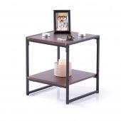 Stolik kawowy do salonu Industrialny Loft Espresso Brązowy COXE