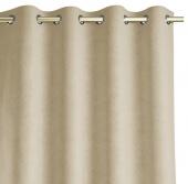 Zasłony zaciemniające z eleganckim tłoczonym wzorem 140x250 cm Kremowe HOPP