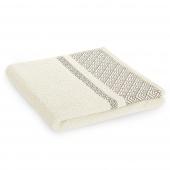 Ręcznik kąpielowy Bawełniany z bordiurą Kremowy DESSIN