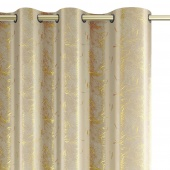 Zasłony dekoracyjne welwetowe na przelotkach Kremowe Złoty Nadruk 140x270 cm KINTSUGI