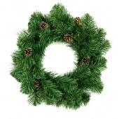 Stroik świąteczny na drzwi Wianek bożonarodzeniowy Jodła z szyszkami LENA