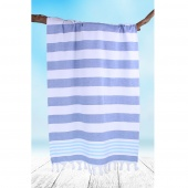 DecoKing - Ręcznik Plażowy Boho Ciemnoniebieski SANTORINI Z FRĘDZLAMI