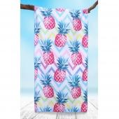 DecoKing - Ręcznik Plażowy Szybkoschnący PINEAPPLE W ANANASY
