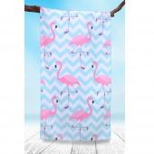 DecoKing - Ręcznik Plażowy Szybkoschnący PARADISE WE FLAMINGI