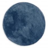 Dywan dekoracyjny ze średnim włosiem Granatowy Miękki Okrągły 80 cm MODERN CHIC