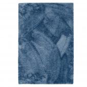 Dywan dekoracyjny ze średnim włosiem Prostokątny Miękki Granatowy MODERN CHIC