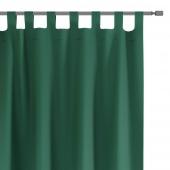 Zasłony dekoracyjne na szelkach Oxford Tie Back 140x250 cm Butelkowa zieleń ELEGANTE