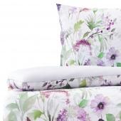 Pościel bawełniana w kwiaty dwustronna Biała Premium FLORTUA