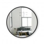 Umbra - Lustro ścienne 46 cm Okrągłe Czarne HUB