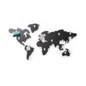Umbra - Dekoracja ścienna Mapa Świata Czarna MAP IT