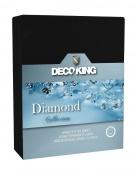 DecoKing – Prześcieradło Jersey - Diamond - Czarny