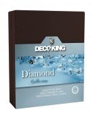 DecoKing – Prześcieradło Jersey - Diamond - Czekoladowy