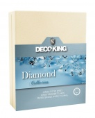 DecoKing – Prześcieradło Jersey - Diamond - Ecru