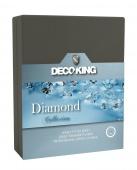 DecoKing – Prześcieradło Jersey - Diamond - Grafitowy