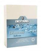 DecoKing – Prześcieradło Jersey - Diamond - Kremowy