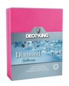 DecoKing – Prześcieradło Jersey - Diamond - Purpurowy