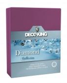 DecoKing – Prześcieradło Jersey - Diamond - Fioletowy